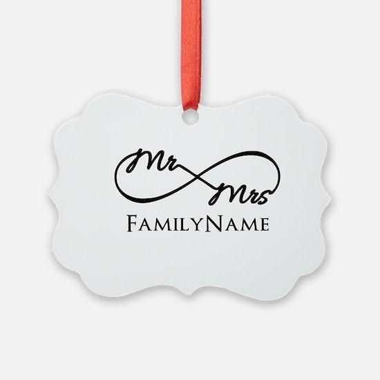 Custom Infinity Mr. and Mrs. Ornament