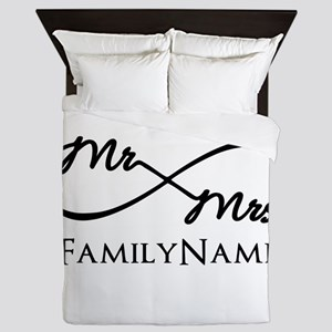 Custom Infinity Mr. and Mrs. Queen Duvet