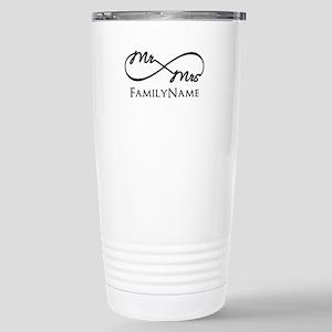 Custom Infinity Mr. and Stainless Steel Travel Mug