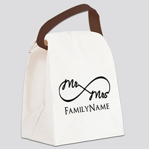 Custom Infinity Mr. and Mrs. Canvas Lunch Bag