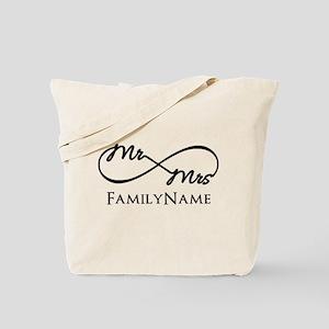 Custom Infinity Mr. and Mrs. Tote Bag