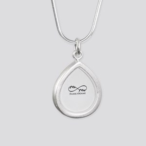 Custom Infinity Mr. and Silver Teardrop Necklace