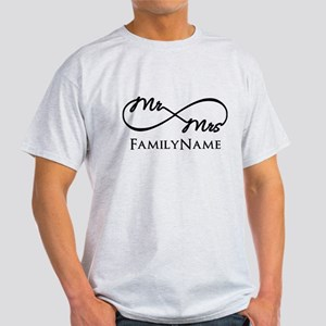 Custom Infinity Mr. and Mrs. Light T-Shirt
