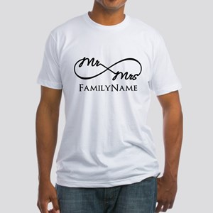 Custom Infinity Mr. and Mrs. Fitted T-Shirt