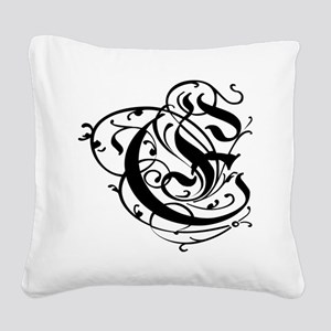 Monogrammed gifts E Square Canvas Pillow