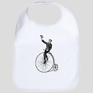 Vintage Gent On Bicycle Bib