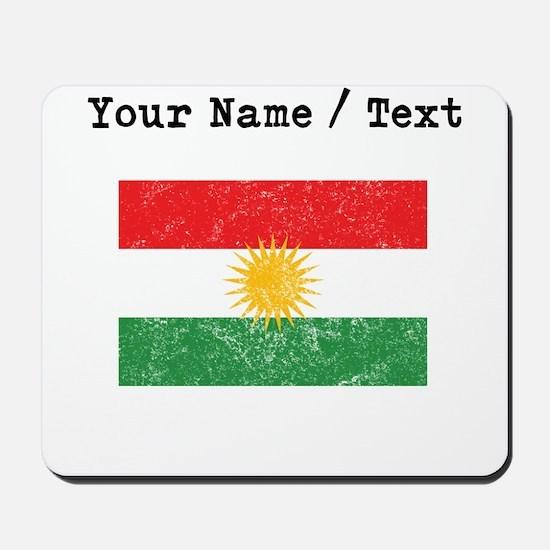 Custom Distressed Kurdistan Flag Mousepad