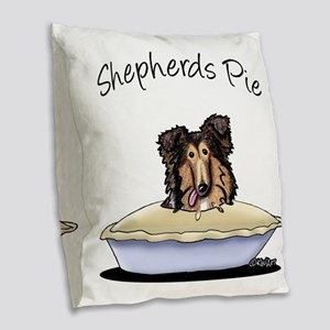 Shepherds Pie Burlap Throw Pillow