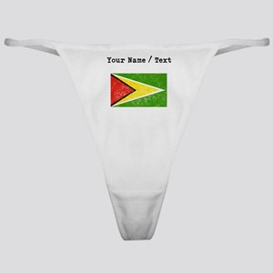 Custom Distressed Guyana Flag Classic Thong