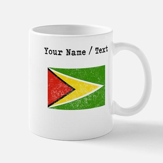 Custom Distressed Guyana Flag Mugs