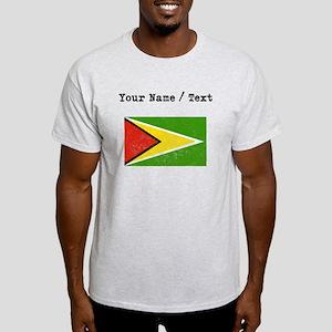 Custom Distressed Guyana Flag T-Shirt