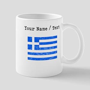 Custom Distressed Greece Flag Mugs