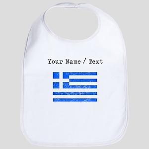 Custom Distressed Greece Flag Bib