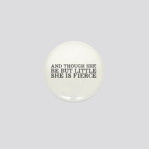 She is Fierce Mini Button