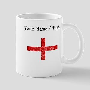 Custom Distressed England Flag Mugs