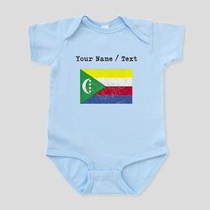 Custom Distressed Comoros Flag Body Suit