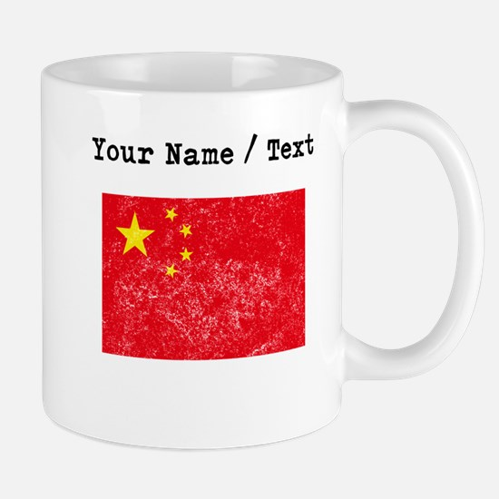 Custom Distressed China Flag Mugs