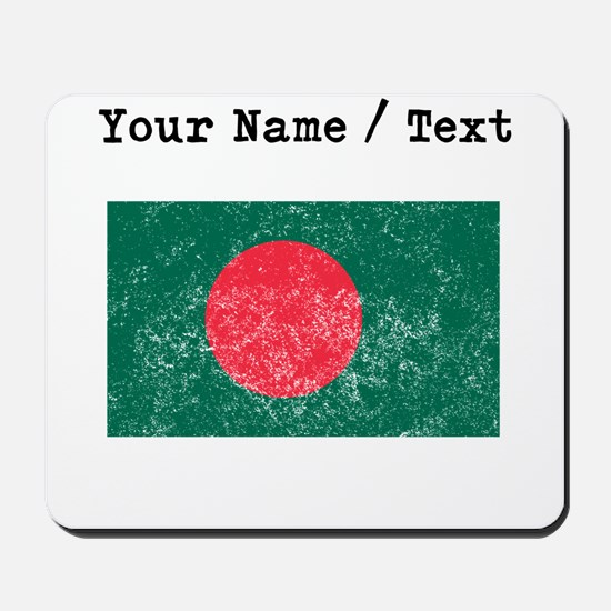 Custom Distressed Bangladesh Flag Mousepad