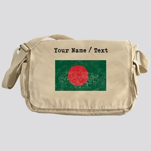Custom Distressed Bangladesh Flag Messenger Bag