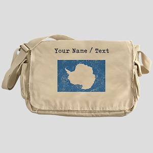 Custom Distressed Antarctica Flag Messenger Bag