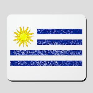 Distressed Uruguay Flag Mousepad