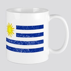 Distressed Uruguay Flag Mugs