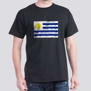 Distressed Uruguay Flag T-Shirt