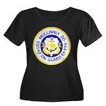 USS MULL Women's Plus Size Scoop Neck Dark T-Shirt