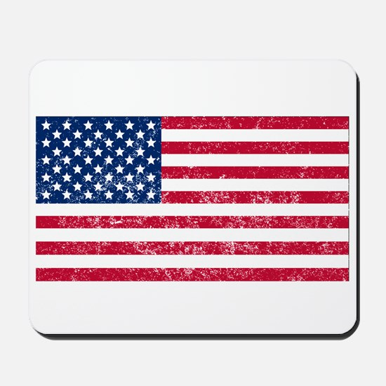 Distressed United States Flag Mousepad