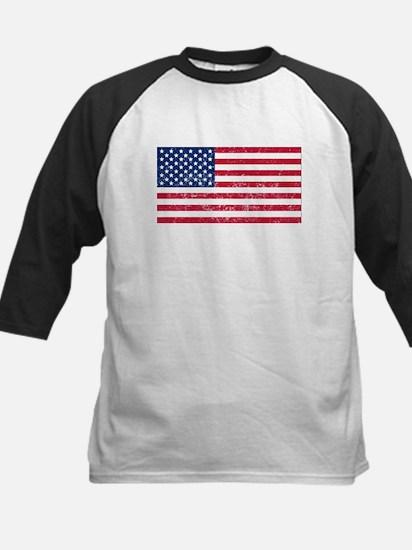 Distressed United States Flag Baseball Jersey