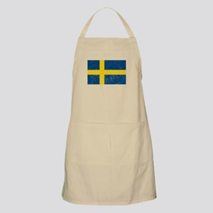 Distressed Sweden Flag Apron