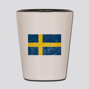Distressed Sweden Flag Shot Glass