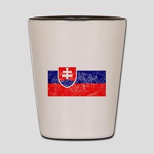 Distressed Slovakia Flag Shot Glass