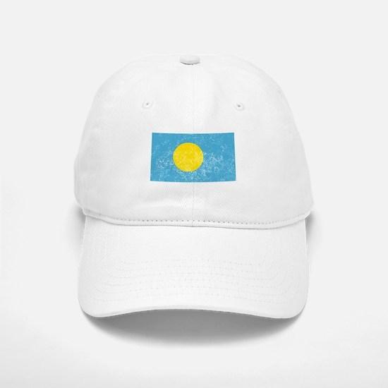 Distressed Palau Flag Baseball Baseball Baseball Cap