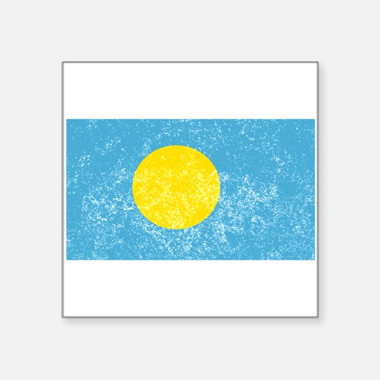 Distressed Palau Flag Sticker