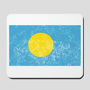 Distressed Palau Flag Mousepad