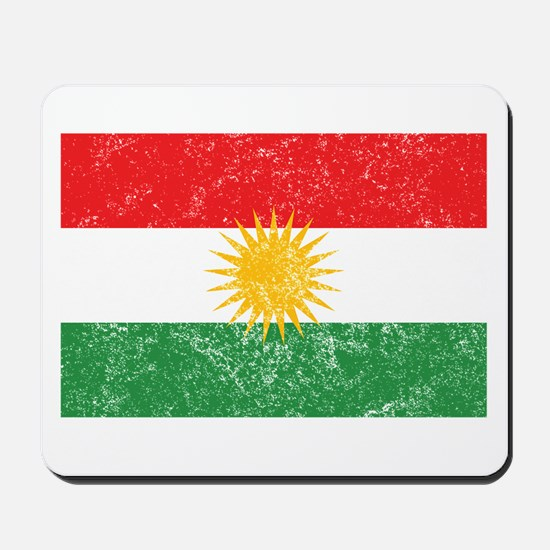 Distressed Kurdistan Flag Mousepad