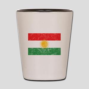 Distressed Kurdistan Flag Shot Glass
