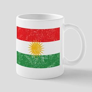 Distressed Kurdistan Flag Mugs