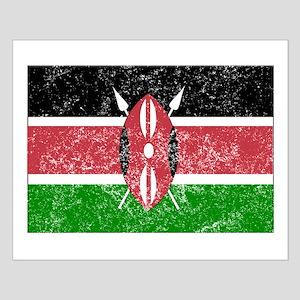 Distressed Kenya Flag Posters