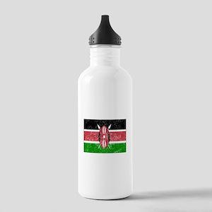 Distressed Kenya Flag Water Bottle