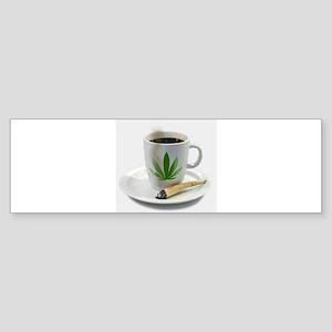 MORNING WAKE n BAKE Bumper Sticker