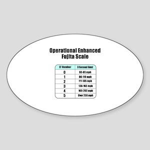 Enhanced Fujita Oval Sticker