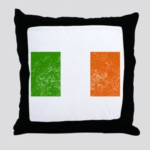 Distressed Ireland Flag Throw Pillow