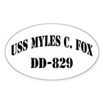 USS MYLES C. FOX Sticker (Oval)