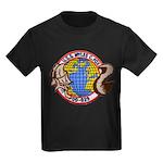 USS MYLES C. FOX Kids Dark T-Shirt