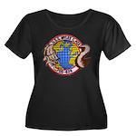 USS MYLE Women's Plus Size Scoop Neck Dark T-Shirt