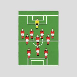 Soccer team , football players 5'x7'Area Rug