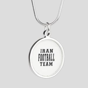 Iran Football Team Silver Round Necklace