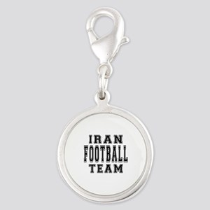 Iran Football Team Silver Round Charm